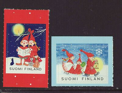 Finland 2019 Mnh Christmas Set Of 2 Stamps Ebay In 2020 Christmas Settings Christmas Stamps
