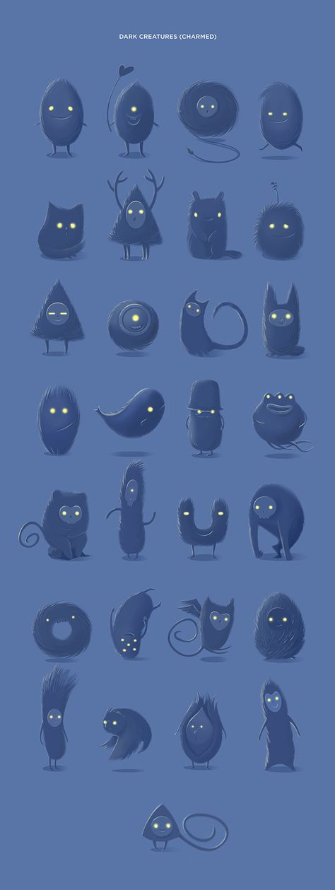 Charmed app on App Design Served ★ Find more at http://www.pinterest.com/competing/ -Some Oval Shaped character designs
