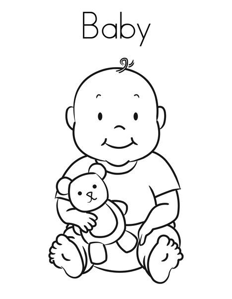 Free Printable Baby Coloring Pages For Kids Baby Coloring Pages Coloring Pages For Boys Baby Colors