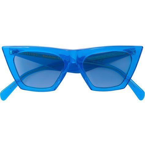 e07573e259c2 Céline Eyewear cat-eye acetate sunglasses (€385) ❤ liked on Polyvore  featuring