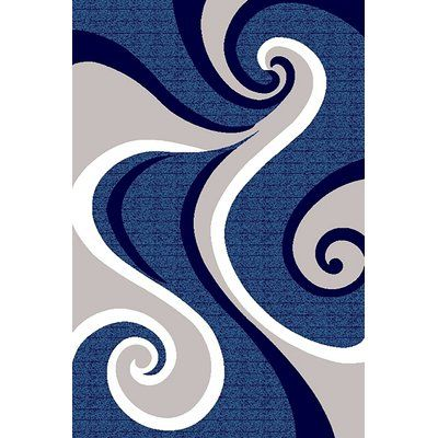 Ivy Bronx Mccampbell 3d Abstract Navy Blue Gray Area Rug Rugs Grey Area Rug Area Rugs