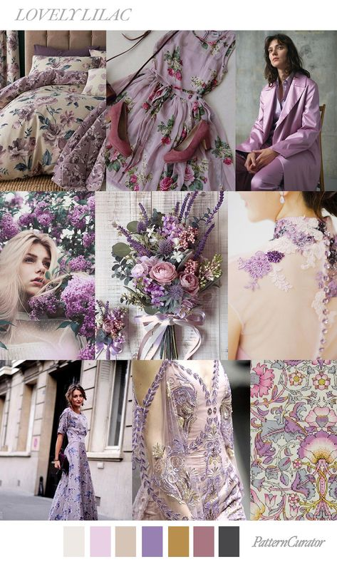 LOVELY LILAC by PatternCurator (FW19) sources:  wayfair.co.uk, pinterest.com (Susanne Weglan), vogue.com (Theory Resort 19), flickr.com, theweddingpin.com, theweddingscoop.com, glamhere.com, pinterest.com, liberty.co.uk