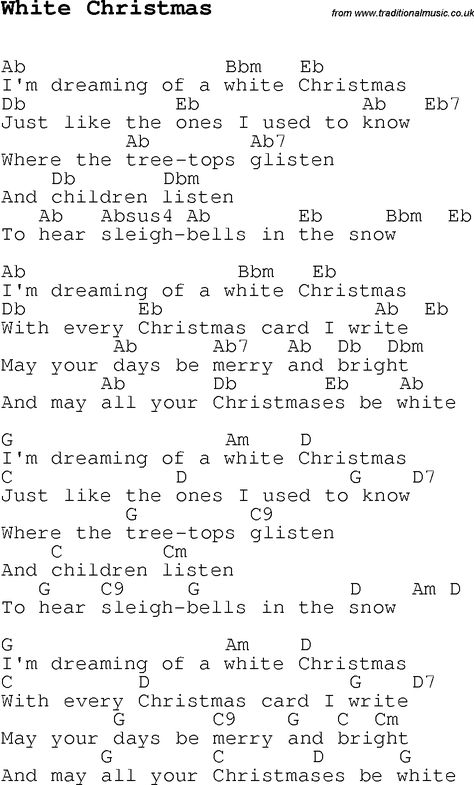 christmas songs and carols lyrics with chords for guitar banjo for have yourself a