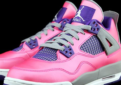 4a110906786dd1 Air Jordan 4 GS - Pink - Purple - SneakerNews.com