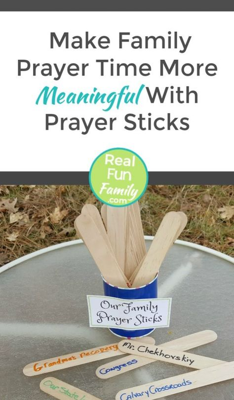 Make Family Prayer Time More Meaningful With Prayer Sticks | Real. Fun. Family.