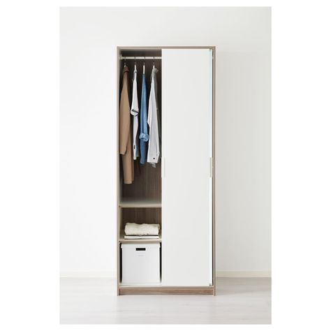 Guardaroba Trysil Ikea.Trysil Guardaroba Bianco Vetro A Specchio House Goals