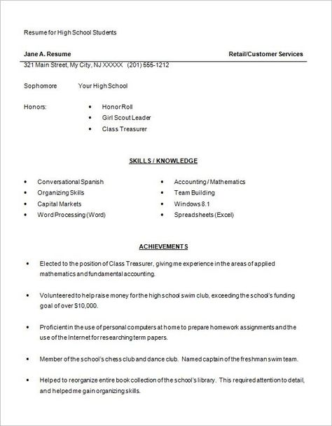 Resume Examples College Student Resume Examples Pinterest - resume templates for highschool students