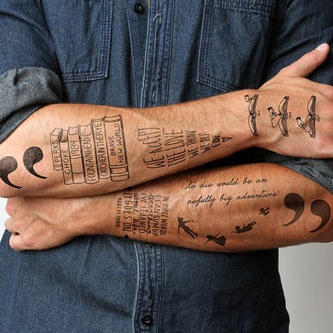 Mens forearm tattoos quotes, tattoo quotes for men, arrow tattoos for
