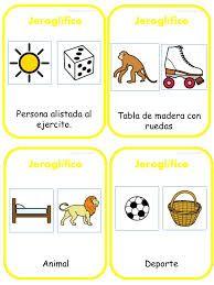 Resultado de imagen para jeroglíficos para niños | Jeroglificos ...