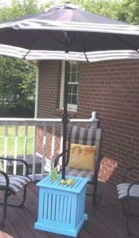 Diy Patio Umbrella Stand Side Table Patioumbrellastand Diy Patio Umbrella Stand Side Table Outdoorumbrellastand In 2020 Patio Umbrella Stand Diy Patio Outdoor Umbrella Stand