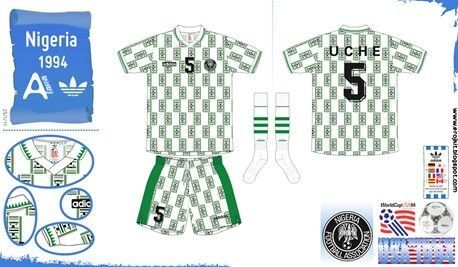 Nigeria Away Kit For The 1994 World Cup Finals Football Fashion World Cup Final Football Kits