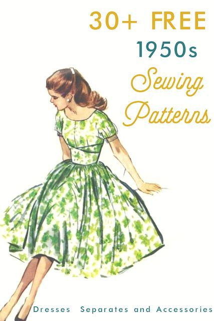 30+ Free 1950s Style Sewing Patterns - #1950s #30 #Free #Patterns #Sewing #Style