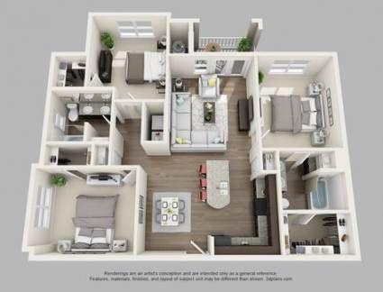 22 Trendy Ideas For Apartment Modern Luxury Floor Plans Luxury Floor Plans Sims House Design Apartment Floor Plans