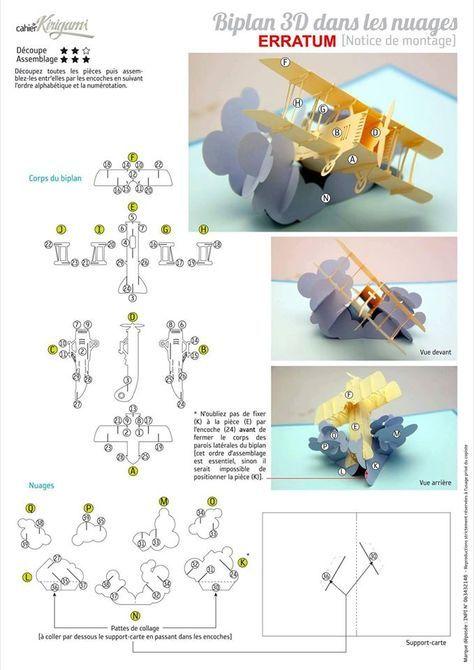 Plane On Cloudy 3d Pop Up Card Pop Up Card Templates Pop Up Cards Pop Up Art