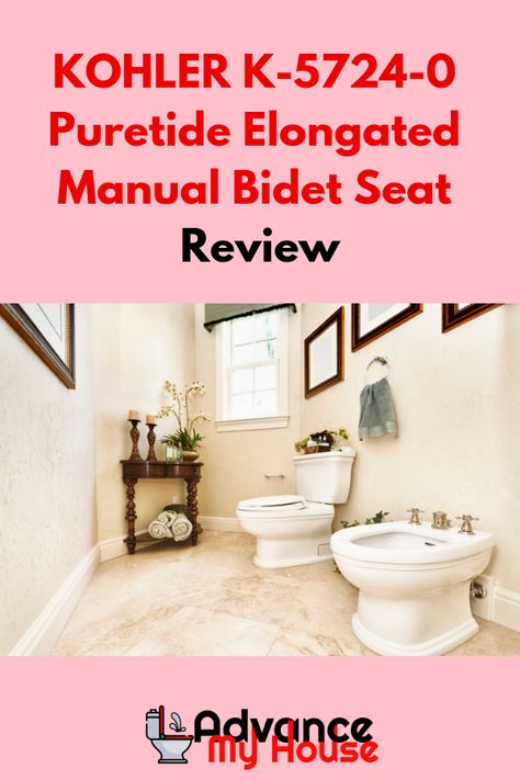 Surprising Kohler K 5724 0 Puretide Elongated Manual Bidet Seat Review Machost Co Dining Chair Design Ideas Machostcouk