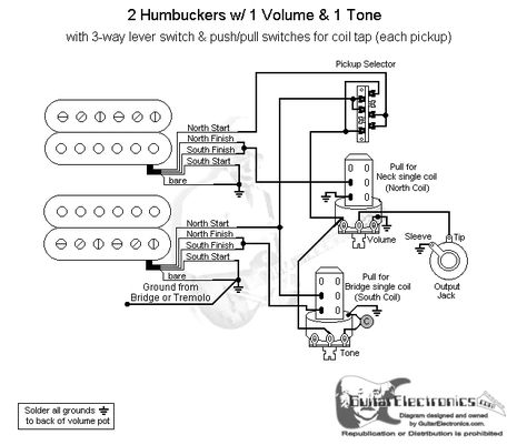 Guitar Wiring Diagram One Volume One Tone
