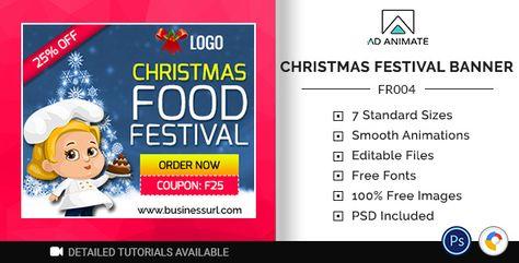 Food & Restaurant | Christmas Food Festival Banner (FR004) | Codelib App