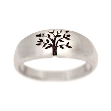 turtlelove.com   Tree of Life Wedding Ring White Gold