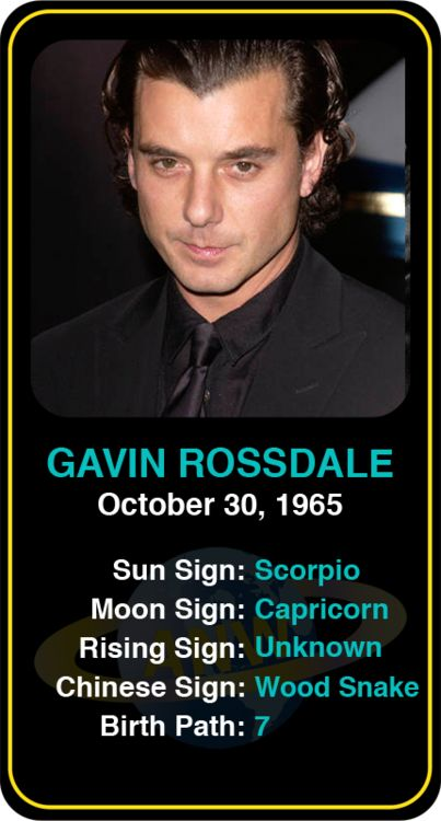 Celeb #Scorpio birthdays Gavin Rossdaleu0027s astrology info! Sign up - desire wap info