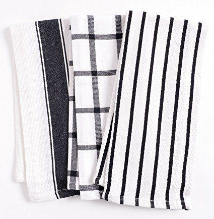 Kaf Home Pantry Cuisine Kitchen Towels Set Of 6 100 Cotton