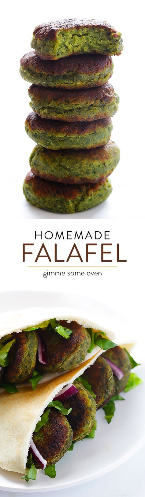 This falafel recipe is full of fresh ingredients, easy to make, and