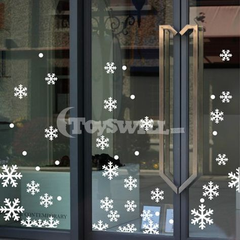 Christmas Glass Door Decorations Google Search Navidad Pinterest