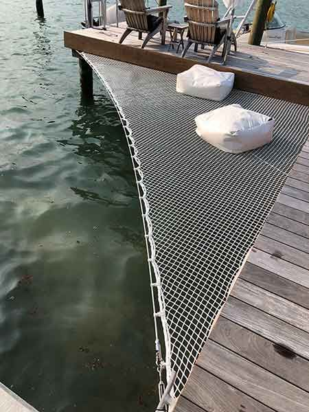 Architectural Nets for decoration, safety, design and other applications. Architectural Netting with worldwide service from Fort Lauderdale, Florida. Lake Dock, Lake Beach, Boat Dock, Docks Lake, Fort Lauderdale, Bar Design, House Design, Santa Helena, Haus Am See