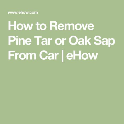 How To Safely Remove Tree Sap From Auto Paint Remove Tree Sap