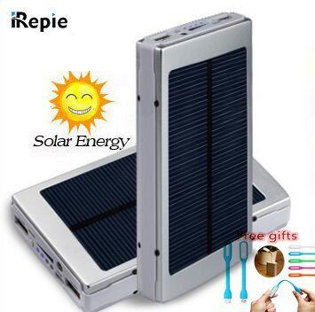 Irepi Portable 14000mah Solar Power Bank Universal Led 10000mah Sun Charger External Battery For Iphone Samsung X Powerbank Solar Power Bank Solar Battery Bank