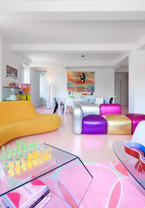 25 Best Interior Design Projects by Karim Rashid Loft Interior Design, Top Interior Designers, Cafe Interior, Interior Exterior, Bathroom Interior Design, Best Interior, Interior Modern, Karim Rashid, Purple Interior