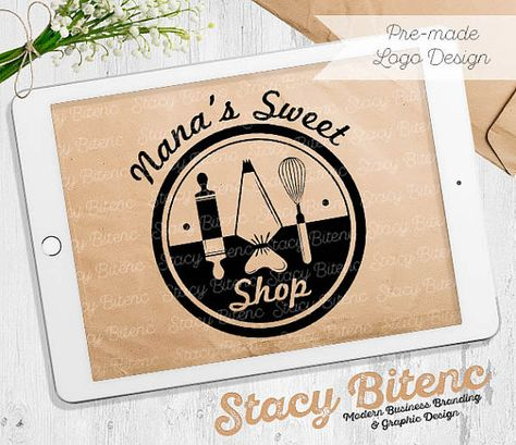 Custom logo design with matching business branding 500 double sided baking logo will full business branding by stacybgraphicdesign colourmoves