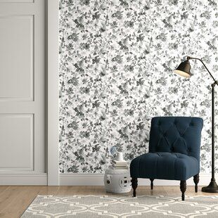 Brewster Home Fashions Plume 33 X 20 5 Watercolor Wallpaper Decor Wallpaper Roll Peel And Stick Wallpaper