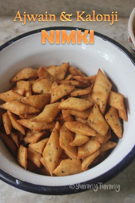 Ajwain & Kalonji Nimki Recipe - Diwali Snacks Recipes