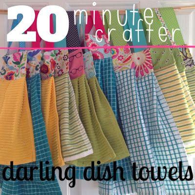 20 minute crafter {modern dish towels for about $1}