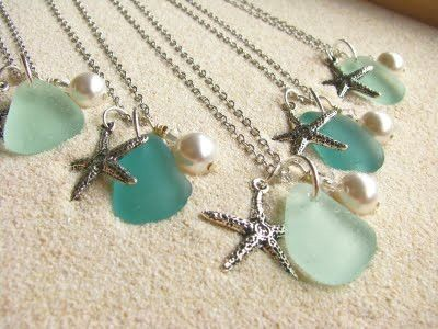 sea glass starfish necklace...ways to use sea glass I have found.