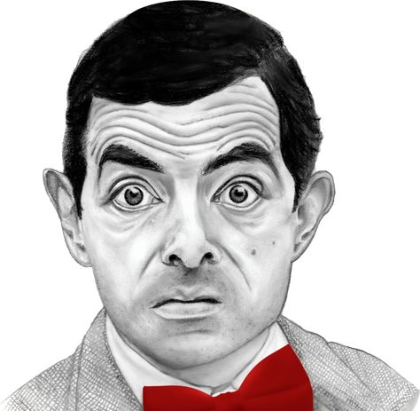 Mr Bean Rowan Atkinson Png Image Person Cartoon Portrait Sketches Happy People Photography