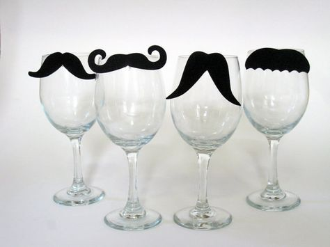 Bring on the giggles with Mustache Wine Charms