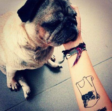 Tattoo Dog Outline Life 19 Ideas Tattoo Pug Tattoo Dog Tattoos