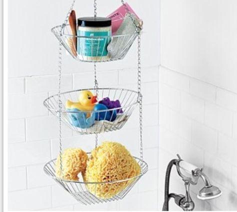 Hang Fruit Basket In Shower Bathroom Organisation Shower