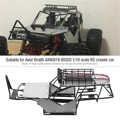 68 99 For Axial Wraith Ax90018 1 10 Rc Car Metal Frame W Guard Plate Roof Rack Lights Roof Rack Rc Cars Car Frames