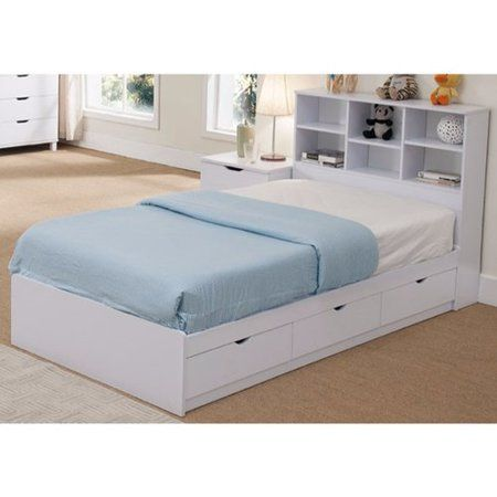 Latitude Run Divito Sophisticated Snow Twin Storage Platform Bed
