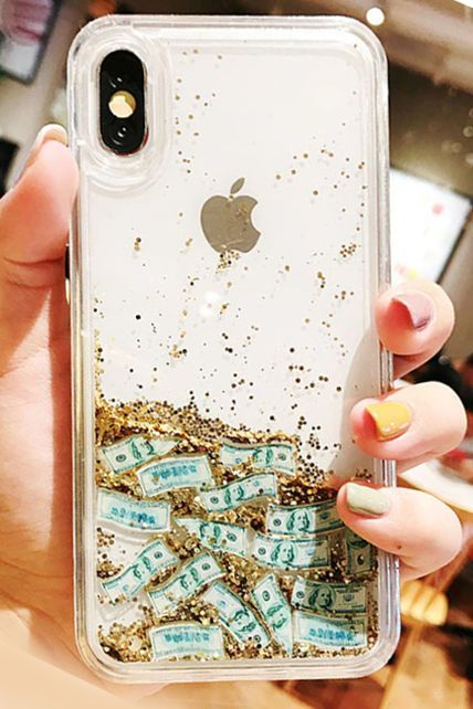 3979210b1d Luxury liquid gold quicksand us bills note iphone case Special ...