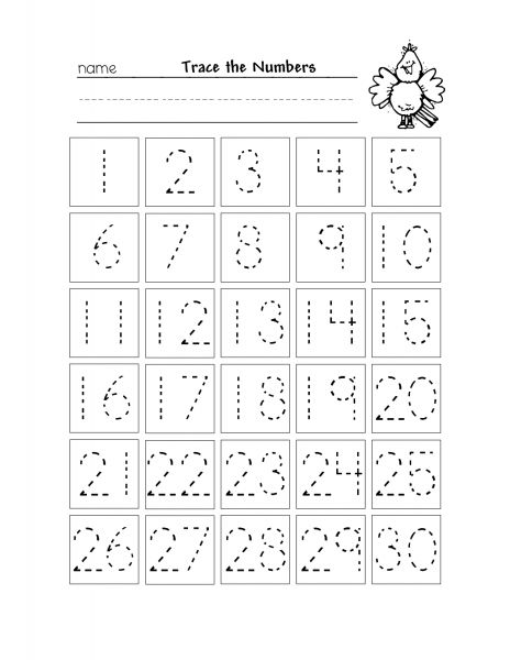Free Number Tracing 1 20 Worksheets Numbers Preschool Kindergarten