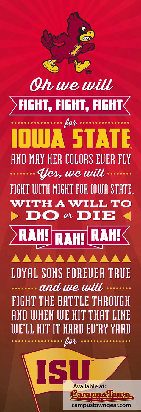 Iowa State University Fight Song. Go State!