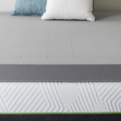 Memory Foam Mattress Topper Gel Soft Ventilated 4 Inch Thick Bamboo Charcoal NEW