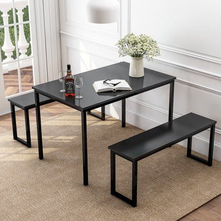 23++ Dining table set with bench walmart Ideas