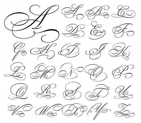 copperplate capital flourishes - Google