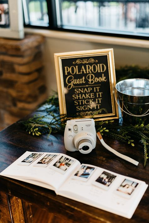 black and gold polaroid wedding photo guest book ideas photos guests Top 20 Polaroid Wedding Decor Ideas Wedding Ceremony Ideas, Wedding Book, Wedding Signs, Our Wedding, Wedding Photos, Dream Wedding, Outdoor Ceremony, Wedding Photo Guest Book, Polaroid Wedding Guest Book