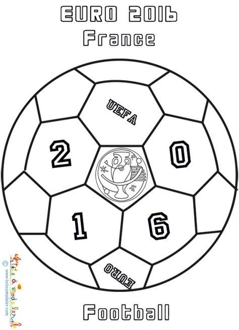 Coloriage D Un Ballon Euro 2016 De Football Coloriage Euro 2016