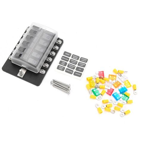 12 Way Fuse Terminals Holder Box Max 32v Terminals Circuit Examination Car Auto Blade Fuse Blocks With Led Indicator Light Circuit Usb Flash Drive Car
